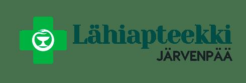 Logo Lähiapteekki Järvenpää_verkkoon ja ruutuihin läpinäkyvä tausta